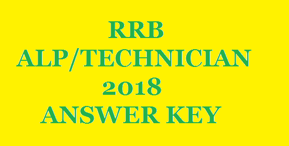 RRB ALP TECHNICIAN 2018 ANSWER KEY