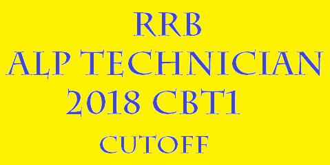 RRB ALP 2018 CBT1 CUTOFF