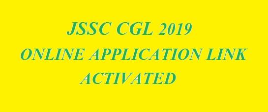 JSSC CGL 2019 ONLINE APPLICATION LINK